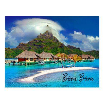 Bora Bora French Polynesia romantic beach photo Postcard - romantic gifts ideas love beautiful