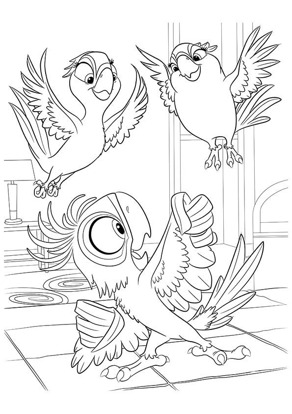 Top 15 Rio Movie Coloring Pages For Your Little Ones