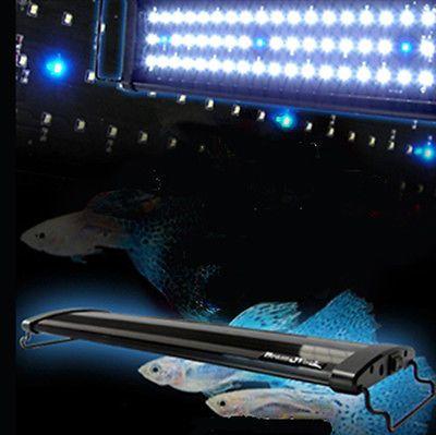 "AQUARIUM LED OVERTANK LIGHT HOOD TROPICAL BRIGHT LIGHTING 24"" EXTENDABLE 60CM"