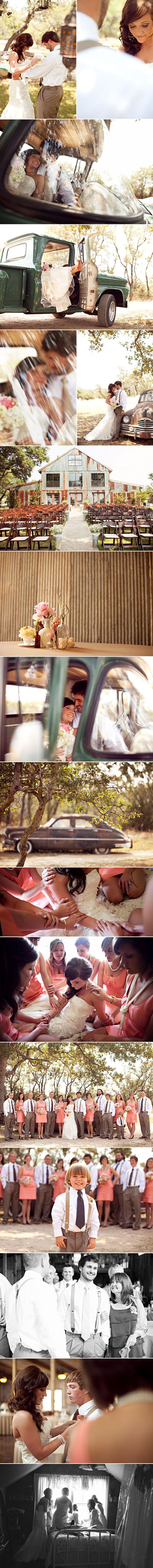 katie + john | wedding | austin wedding photographer | ee photography love the old car