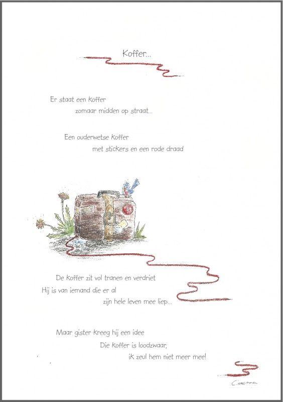 Wenskaart `Koffer`