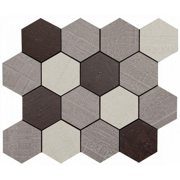 apavisa outdoor policromatico mosaico hexagonal 29 75x29