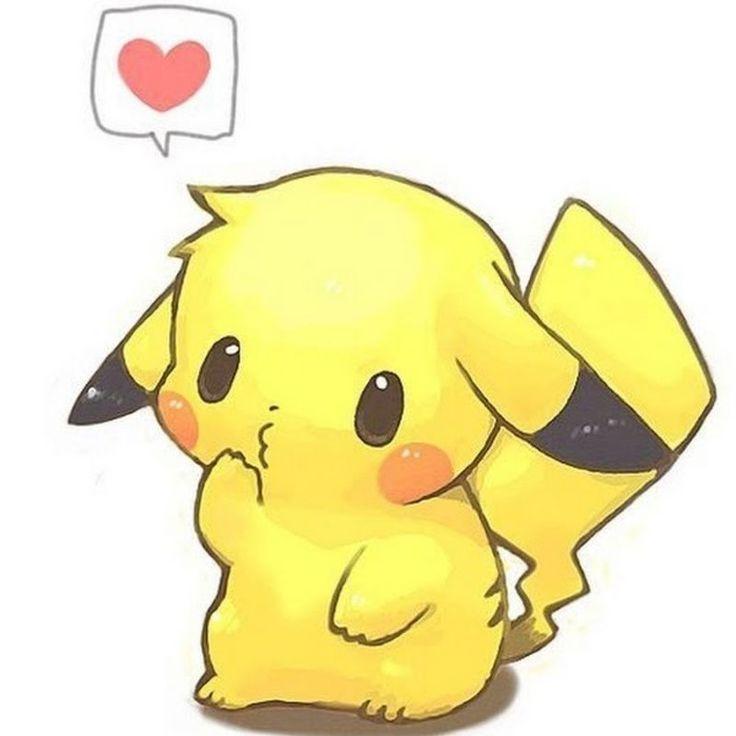Adorable Picachu Kawaii Animasi Sketsa  dan Pokemon