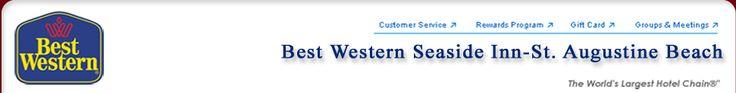 Best Western Seaside Inn St. Augustine Beach, Hotels Saint Augustine Beach, North Florida Beach Hotels.