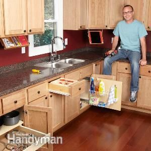 Top Organization Tips for Your Kitchen! Click to review simple ideas to better organize cabinets and discover creative ways to add storage space. All DIY ideas that will save you time and money!