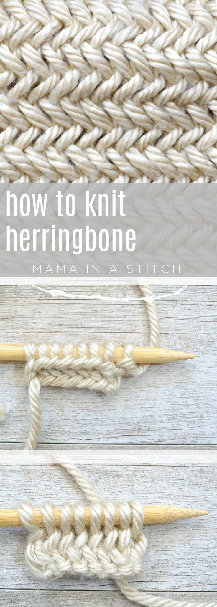 This picture tutorial will show you how to knit herringbone patterns and how to … #this …