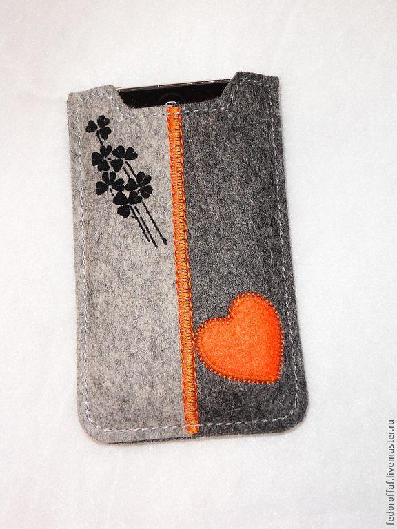 Купить Чехол для iPhone из фетра - чехол, чехол для телефона, чехол для мобильного, чехол для iphone, фетр