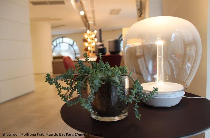Take the time to appreciate  the simple pleasures: a pretty light, a  beautiful plant ... Have a nice day! #Empatia table lamp #design Carlotta de Bevilacqua & Paola Di Arianello