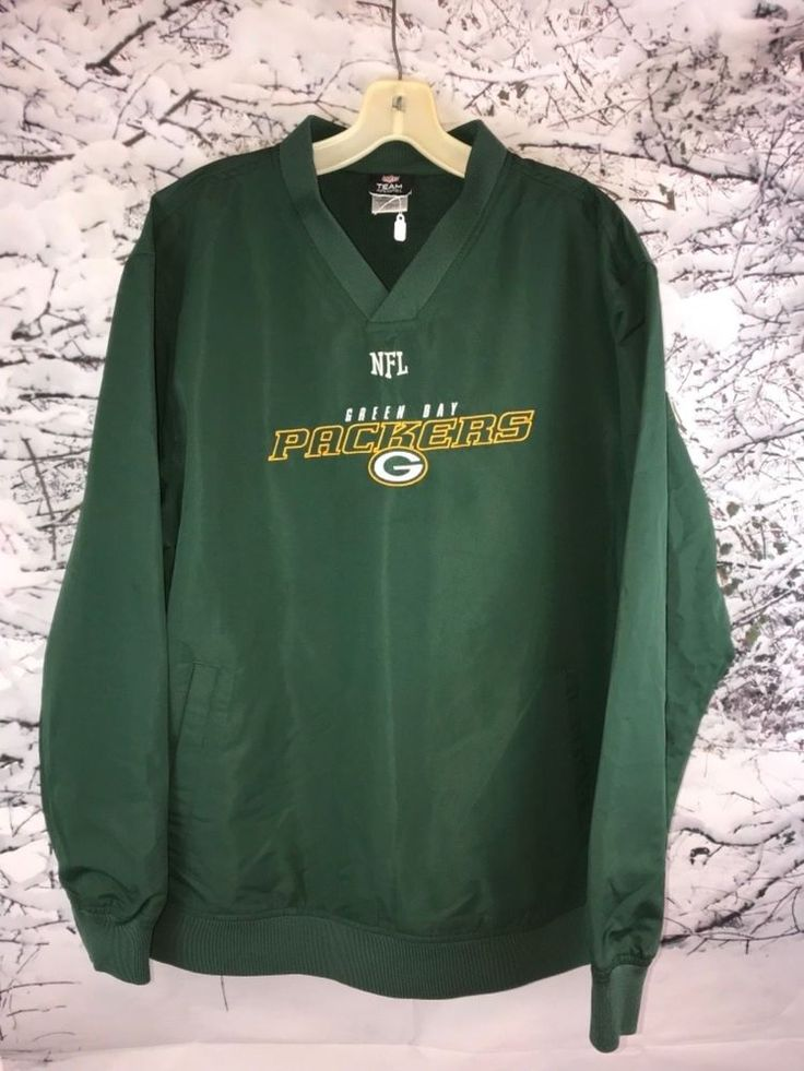 Green Bay Packers NFL Apparel Green Windbreaker Size Medium Gift #NFLApparel #GreenBayPackers