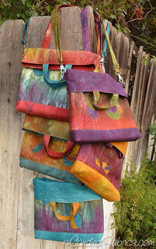 Convertible Tote Bags in hand dyed fabric