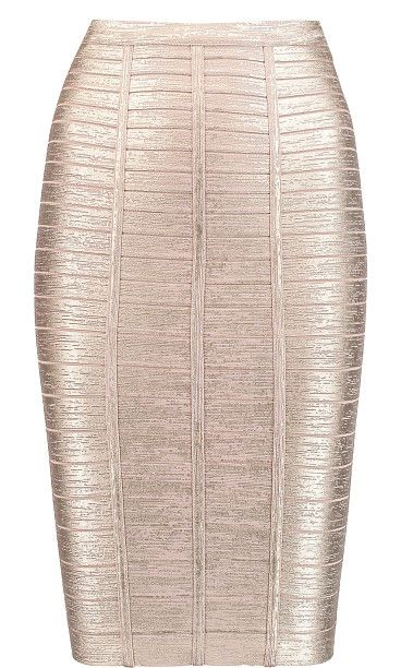 On SALE at 50% OFF! metallic bandage pencil skirt by Herve Leger. Knee -length, designed to be worn at the waist . Mid -weight, stretchy fabric . Those with curvy hips may wish to tak...