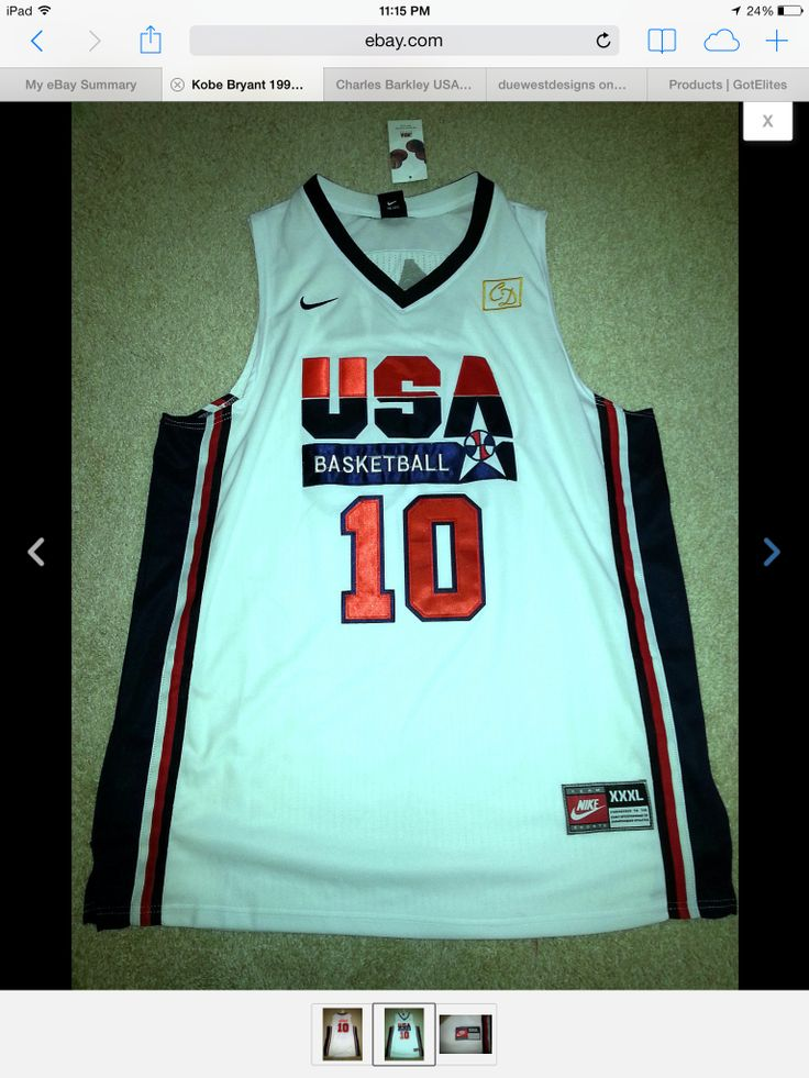 Just copped the Nike Kobe USA Dream Team Jersey.