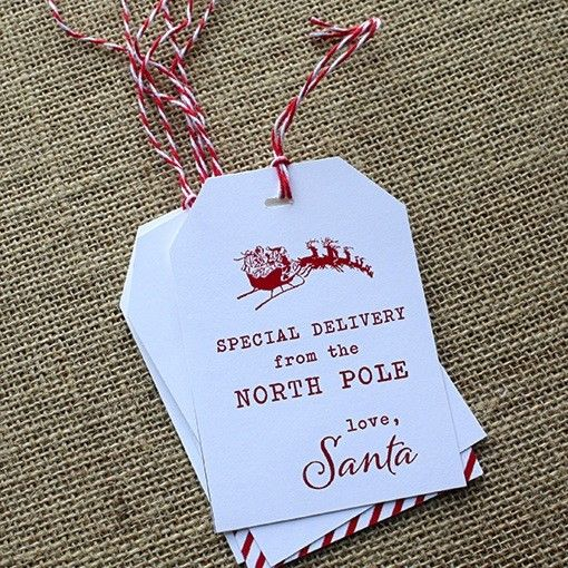 From Santa Gift Tags DesignCorral.com