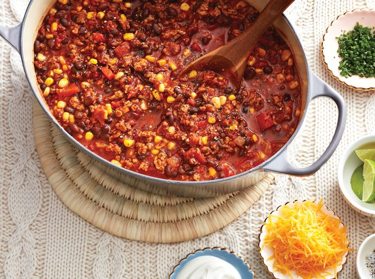 Chili is a good friend to have. It's hearty, delicious and minimal effort. This lean turkey variation yields lots of leftovers.