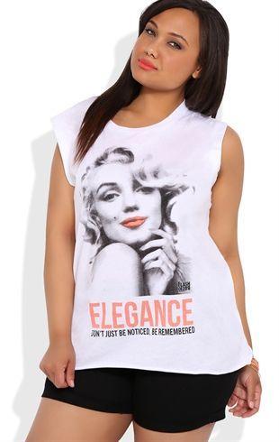 Deb Shops Plus Size Marilyn Monroe Elegance Tunic Tank $22.00:  T-Shirt, Style,  Tees Shirts, Tanks Tops, Tunics Tanks, Elegant Tunics, Shops Deb, Deb Shops, Size Tunics