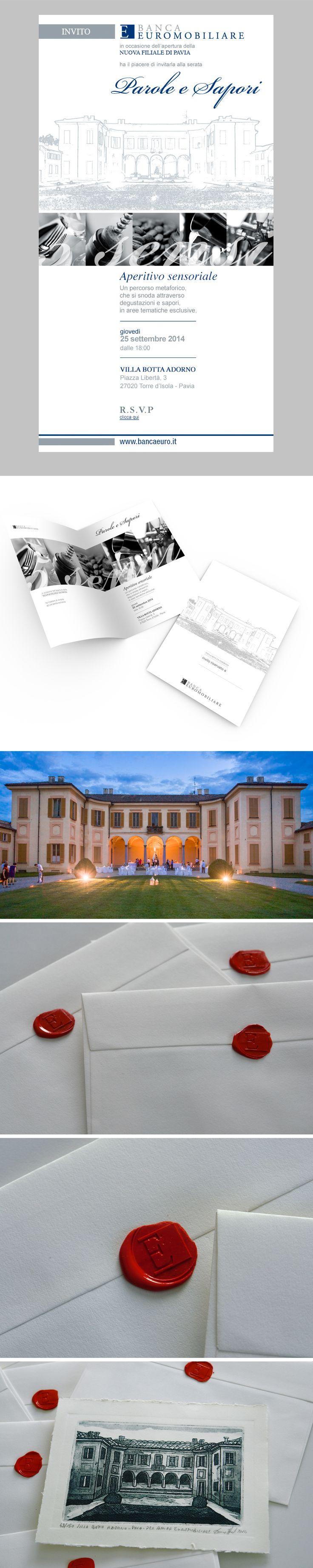 In occasione dell'apertura della nuova filiale di Pavia, giovedì 25 settembre 2014, b_centric è stata incaricata da Banca Euromobiliare per pianificare e realizzare l'evento, curando l'aspetto organizzativo e grafico.