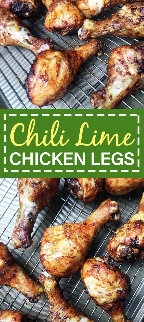 These Chili Lime Baked Chicken Legs Are Easy To Make And Tasty To