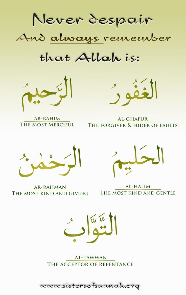 5 names of Allah