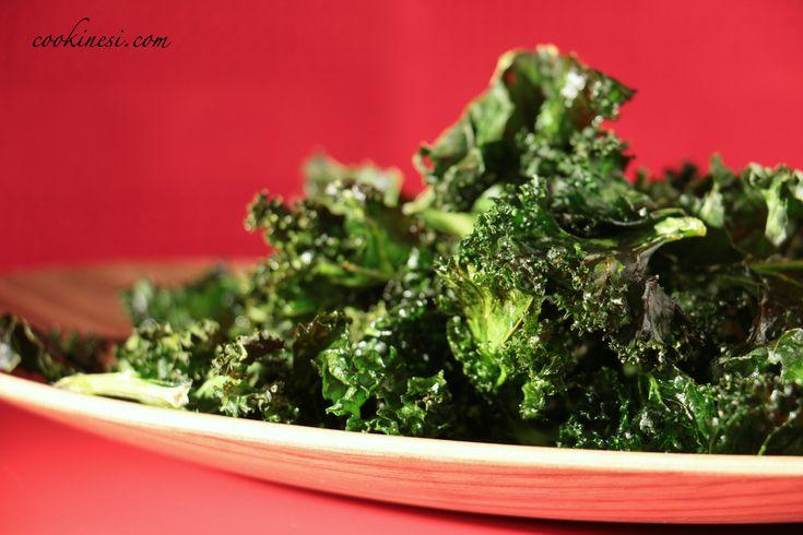 Kale Chips / Recipe in German / Das einfache Rezept auf Deutsch  #Kale #KaleChips #Healthy #superfood