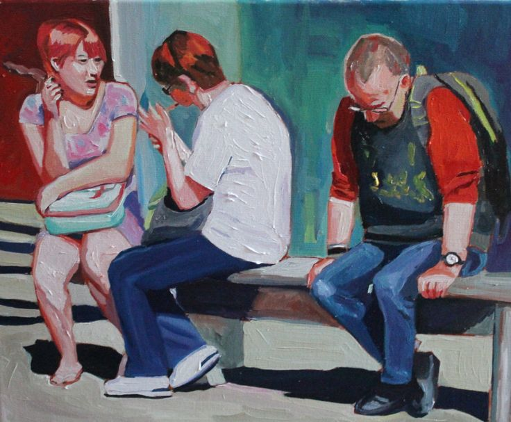 FINEARTSEEN - View Passive Smoking by Emma Cownie. A stunning impressionist painting of passers by. Available on FineArtSeen - The Home Of Original Art. Enjoy Free Delivery with every order. << Pin For Later >>