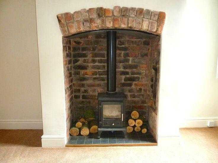 wood burning stove green recess - Google Search