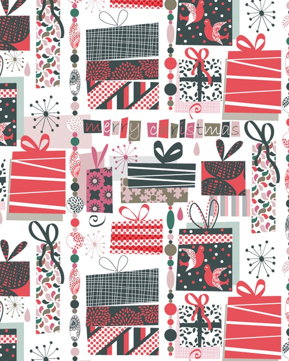 One of my design to Motif Personnel's contest - Bohemian Christmas