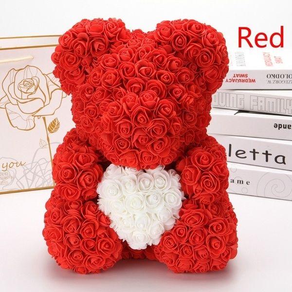 New Handmade Artificial Rose Teddy Bear Teddy Bear Artificial Flower Birthday Gift Eternal Flower Valentine S Day Gift Wish Bear Valentines Teddy Bears Valentines Diy Valentines Gifts
