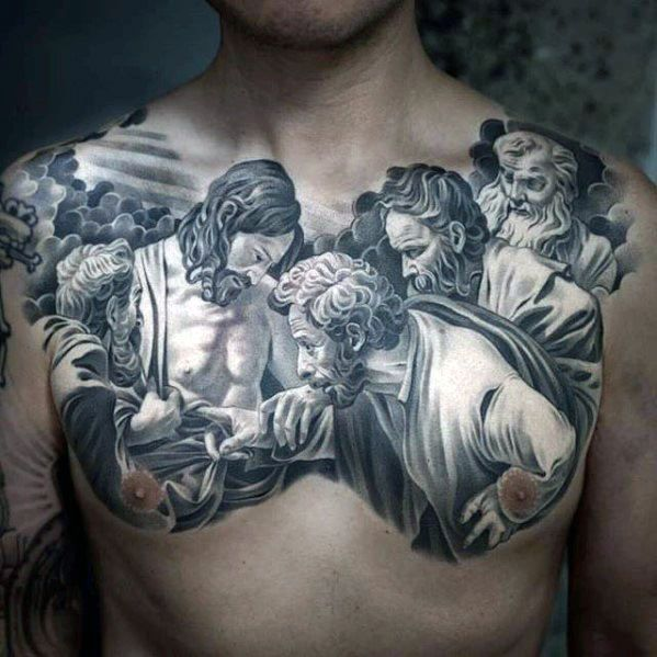 40 Jesus Chest Tattoo Designs For Men Chris Ink Ideas Chest Tattoo Men Cool Chest Tattoos Chest Tattoo