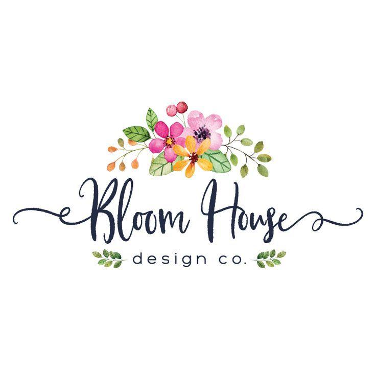 Pretty Floral Premade Logo Design Blog Header Customized With Your Business Name Logo De Estetica Logos De Florerias Logotipo De Tienda