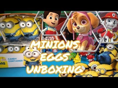 MINIONS SURPRISE EGGS UNBOXING WITH PAW PATROL TOYS STAR WARS, HELLO KITTY