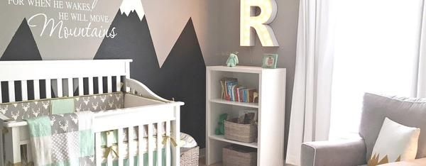 Every once in a while we come across a nursery design idea and fall MADLY in love. The sweet story behind Reyn's Rocky Mountain Retreat is that his parents have special memories of their time spent in the mountains, and wanted to create ...