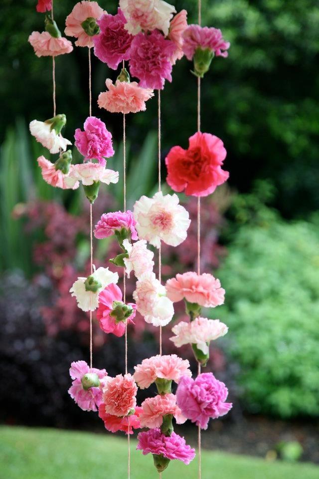 Ein Windspiel aus Nelken <3 #tollwasblumenmachen #flower #deco