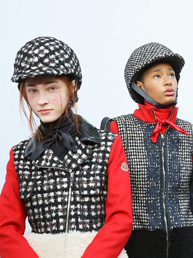 Behind the Scenes at the Moncler Gamme Rouge Show #moncler #gammerouge