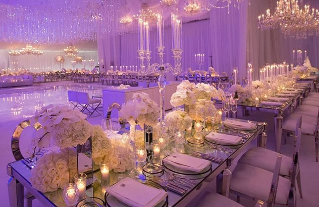 Lavender lighting by @images_lighting added to the luxurious and elegant decor at our tented reception. --As featured in Grace Ormonde @wedding_style. @taradollinger || Venue: Private Estate | Planning: @sacks_productions | Photography: @elizabethmessina | Event Design: @revelryeventdesign | Floral Design: @jeffleatham | Invitations: @lehrandblack | Cake: @perfectendingscakes | Gown: @ralphandrusso | Grooms Attire: Saint Laurent | Stylist: @charroxstylist | Rentals: @tacer_losangeles…