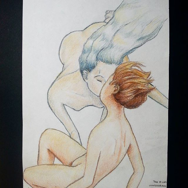 A little illustration with colored pencils... #arty #artofdrawingg #artistrepost…