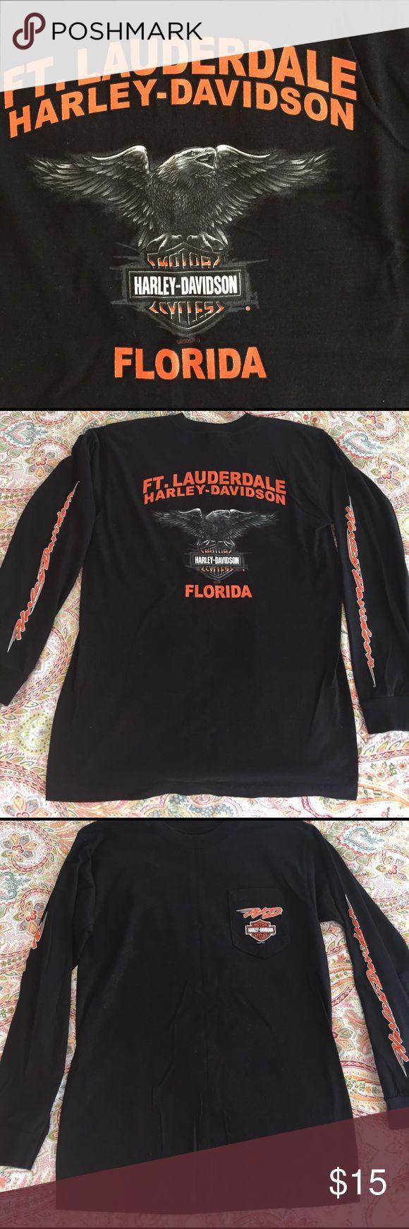 Harley Davidson Haley Davidson long sleeve cotton US made Shirt Men's M.... Harley-Davidson Shirts Tees - Long Sleeve