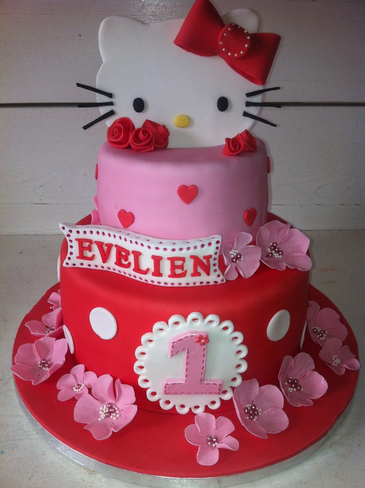Best 25 Hello Kitty Birthday Cake Ideas On Pinterest