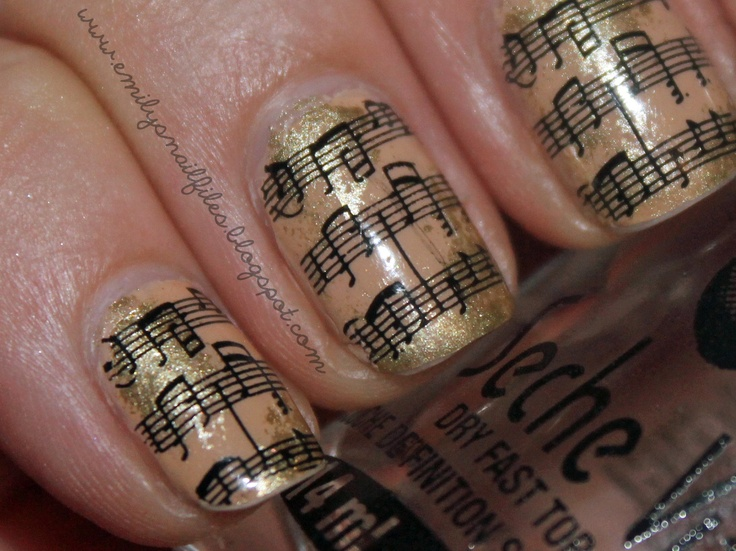 Musical Notes!: Emily Nails, Nails File, Musical Notes, Music Nails, Nails Ideas, Konad Nails, Fingers Nails, Music Note Nails Art, Music Notes