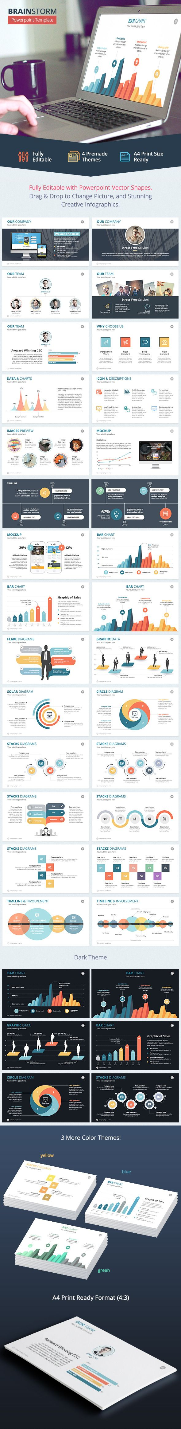 Brainstorm - Powerpoint Template #powerpoint #powerpointtemplate #presentation Download: http://graphicriver.net/item/brainstorm-powerpoint-template/9631174?ref=ksioks