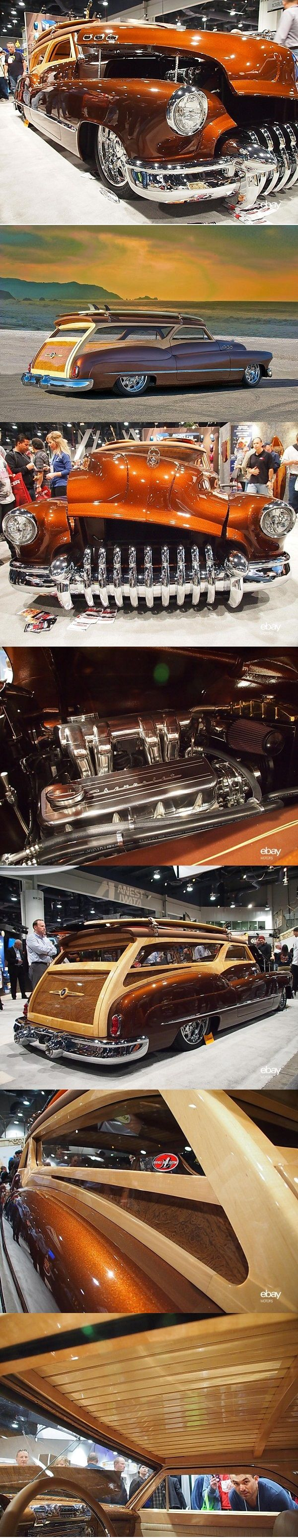 ◆ Visit ~ MACHINE Shop Café ◆ (1950 Buick 'Low Tide' Custom Woody Wagon of Scott Pruett)