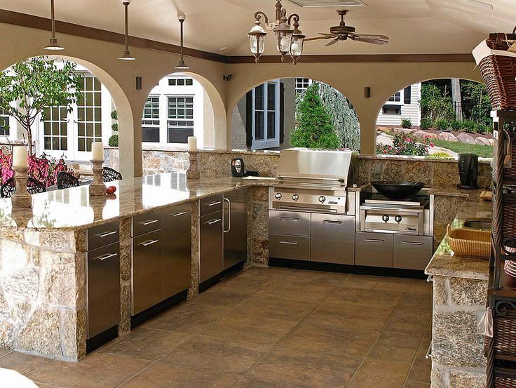 Backyard Kitchen Ideas Awesome Decorating Design
