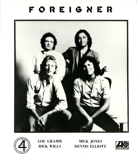 "Foreigner is a British-American hard rock band, originally formed in New York City in 1976 by veteran English musician Mick Jones and fellow Briton and ex-King Crimson member Ian McDonald along with American vocalist Lou Gramm.   Jones came up with the band's name as he, McDonald and Dennis Elliott were British, while Gramm, Al Greenwood and Ed Gagliardi were American. Their biggest hit single, ""I Want to Know What Love Is"", topped the United Kingdom and United States Charts among others…"