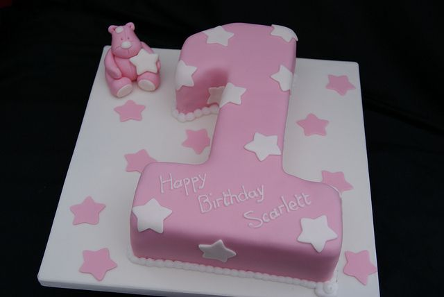 Pink Number 1 Cake   Flickr - Photo Sharing!