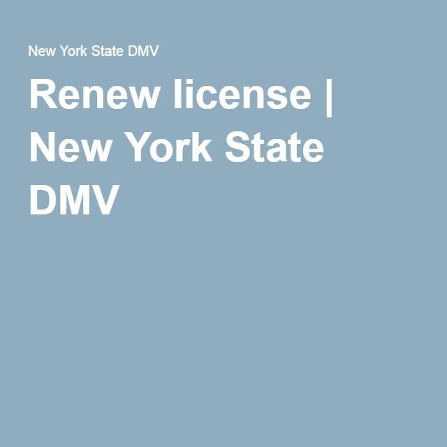 Renew license | New York State DMV