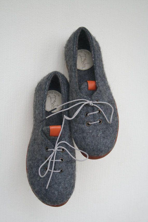 Felt sneakers EU 385 US 8 ready to ship от FilziFelti на Etsy