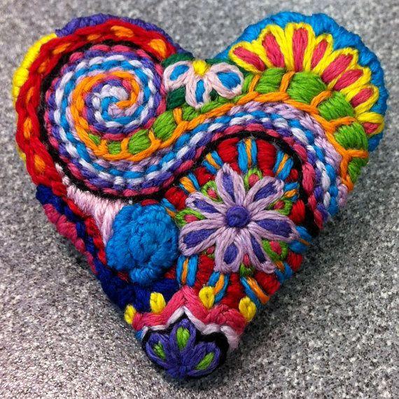 Heart brooch #43