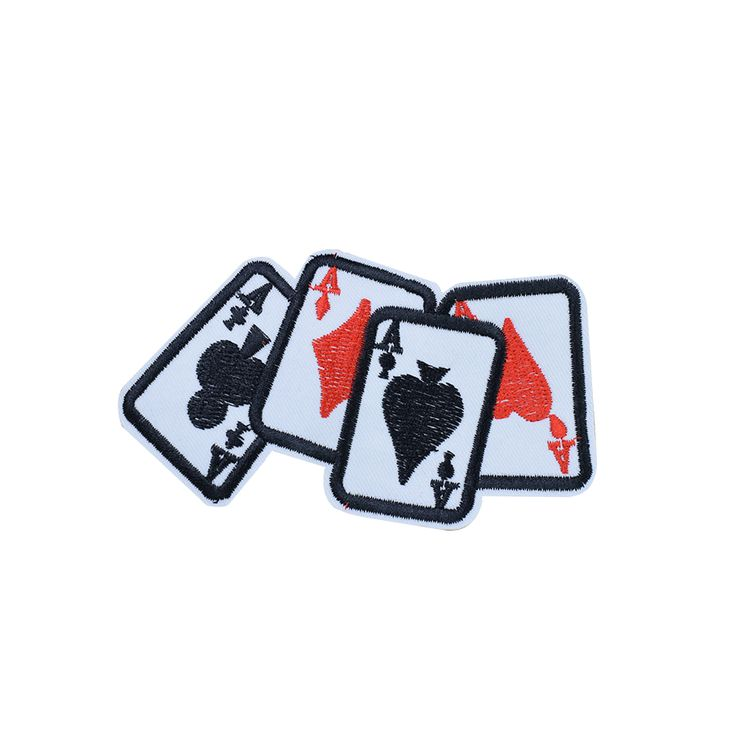 Poker cards patches for clothing iron on patches for clothes badges clothes iron-on parches applique patch for jeans 5pcs
