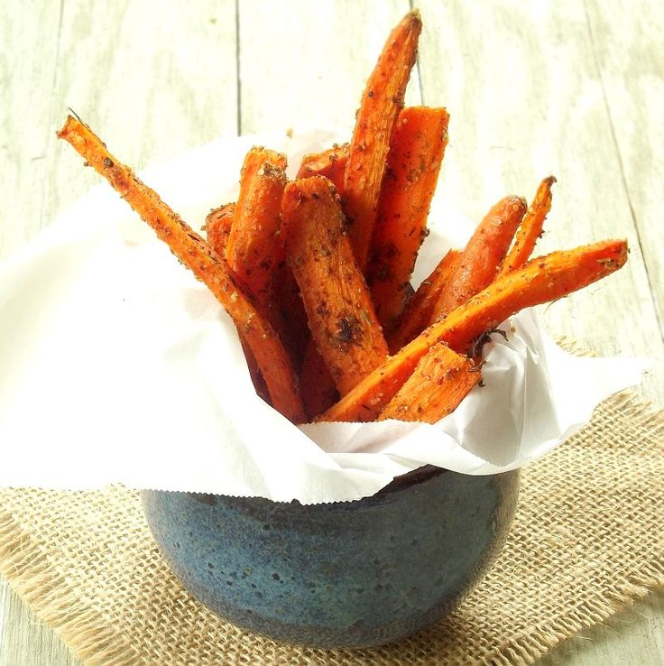 These healthy carrot fries are seasoned with tangy Middle Eastern za'atar and baked to crispy perfection.