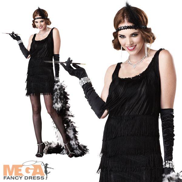 Ladies Fashion Flapper 1920s Fancy Dress Costume Womens | eBay