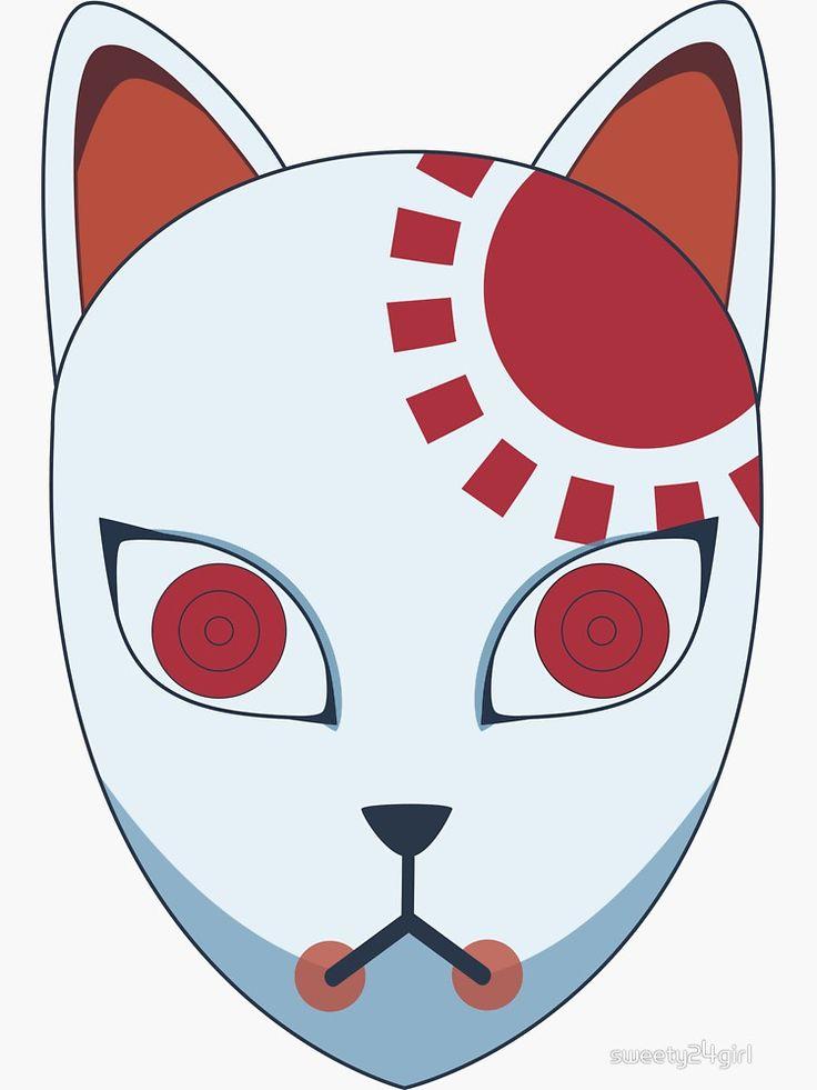 Demon slayer tanjiro mask sticker anime demon